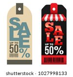 sale tag banner half price.... | Shutterstock .eps vector #1027998133