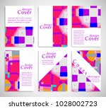 set of a4 cover  abstract... | Shutterstock .eps vector #1028002723