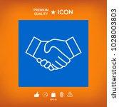 handshake line icon | Shutterstock .eps vector #1028003803