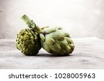 Artichokes On Grey Background....