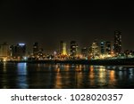 tel aviv ligths  as it see from ... | Shutterstock . vector #1028020357