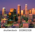 Downtown Los Angeles Skyline, California - stock photo