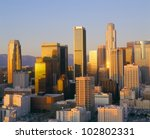 Los Angeles Skyline a Dusk, California - stock photo