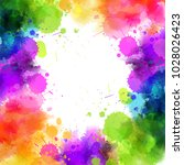 banner with colorful watercolor ... | Shutterstock .eps vector #1028026423