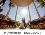 bottom view photo of bride and... | Shutterstock . vector #1028026477