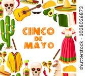 cinco de mayo mexican holiday... | Shutterstock .eps vector #1028026873