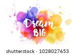 dream big hand lettering phrase ...