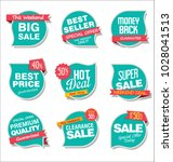 modern sale stickers and tags... | Shutterstock .eps vector #1028041513