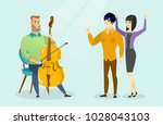 young caucasian white hipster... | Shutterstock .eps vector #1028043103
