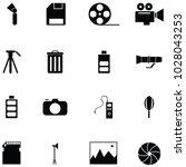 photographic equipment icon set   Shutterstock .eps vector #1028043253