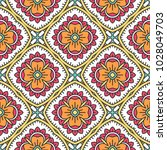 seamless pattern with mandala.... | Shutterstock .eps vector #1028049703