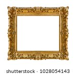 old wooden picture frame... | Shutterstock . vector #1028054143