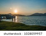 ferry parking with sea and... | Shutterstock . vector #1028059957