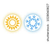 sun and snowflake abstract for... | Shutterstock .eps vector #1028060827