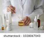 the scientist dermatologist... | Shutterstock . vector #1028067043