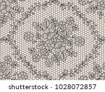 seamless black lace background... | Shutterstock .eps vector #1028072857
