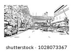 downtown of west side new york... | Shutterstock .eps vector #1028073367