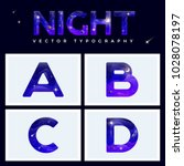 colorful space letters alphabet ... | Shutterstock .eps vector #1028078197