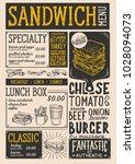 sandwich restaurant menu....   Shutterstock .eps vector #1028094073