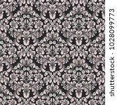 vector damask seamless pattern...   Shutterstock .eps vector #1028099773