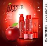 luxury cosmetic bottle package...   Shutterstock .eps vector #1028103493