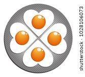 fried eggs. figured fried eggs...   Shutterstock .eps vector #1028106073