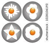 fried eggs. figured fried eggs...   Shutterstock .eps vector #1028106193
