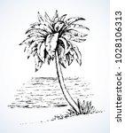 summertime exotic scenic view...   Shutterstock .eps vector #1028106313