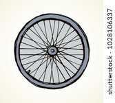 big round shape metal range on... | Shutterstock .eps vector #1028106337