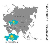 territory of kazakhstan on asia ... | Shutterstock .eps vector #1028116453