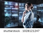 looking interested. clever...   Shutterstock . vector #1028121247