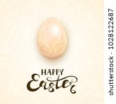 beige easter egg with floral... | Shutterstock .eps vector #1028122687