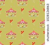 circus show entertainment tent... | Shutterstock .eps vector #1028126863