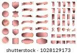 golden rose banner ribbon label ... | Shutterstock .eps vector #1028129173