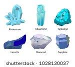 rhinestone aquamarine turquoise ... | Shutterstock .eps vector #1028130037