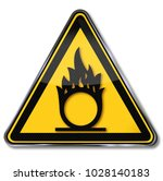 warning of oxidants  fire and... | Shutterstock . vector #1028140183