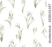 seamless pattern with delicate... | Shutterstock . vector #1028141107