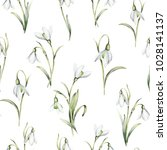 seamless pattern with delicate... | Shutterstock . vector #1028141137