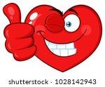 red heart cartoon emoji face... | Shutterstock . vector #1028142943