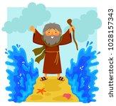 cartoon illustration of happy... | Shutterstock .eps vector #1028157343