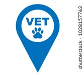 pinpoint veterinarian here icon ... | Shutterstock .eps vector #1028157763