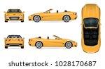 car vector mock up on white...   Shutterstock .eps vector #1028170687