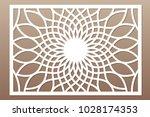template for cutting. flower ... | Shutterstock .eps vector #1028174353