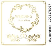 wedding decoration border. hand ... | Shutterstock . vector #1028178037