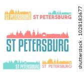 saint petersburg russia flat... | Shutterstock .eps vector #1028183677
