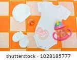 white bodysuit  romper   white...   Shutterstock . vector #1028185777