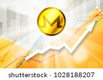 monero cryptocurrency in the... | Shutterstock . vector #1028188207