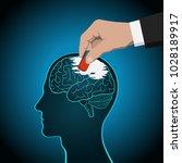 the erasure of the brain  its... | Shutterstock .eps vector #1028189917