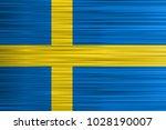 vector concept of swedish flag. ... | Shutterstock .eps vector #1028190007