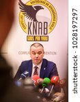 Small photo of 19.02.2018. RIGA, LATVIA. Press conference about Latvian central bank governor Ilmars Rimsevics detention at The Corruption Prevention and Combating Bureau (KNAB)
